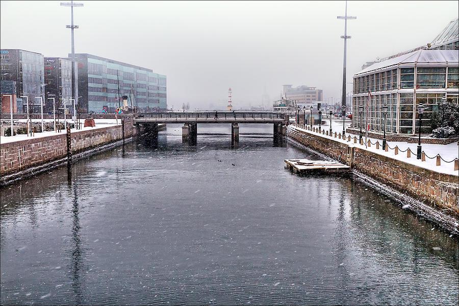 Snow Photograph - Winter Bridge by EXparte SE