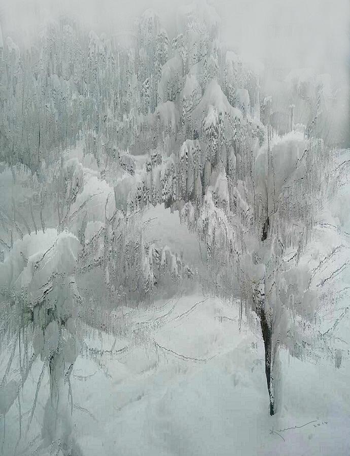 Crystal Photograph - Snowland by Kume Bryant