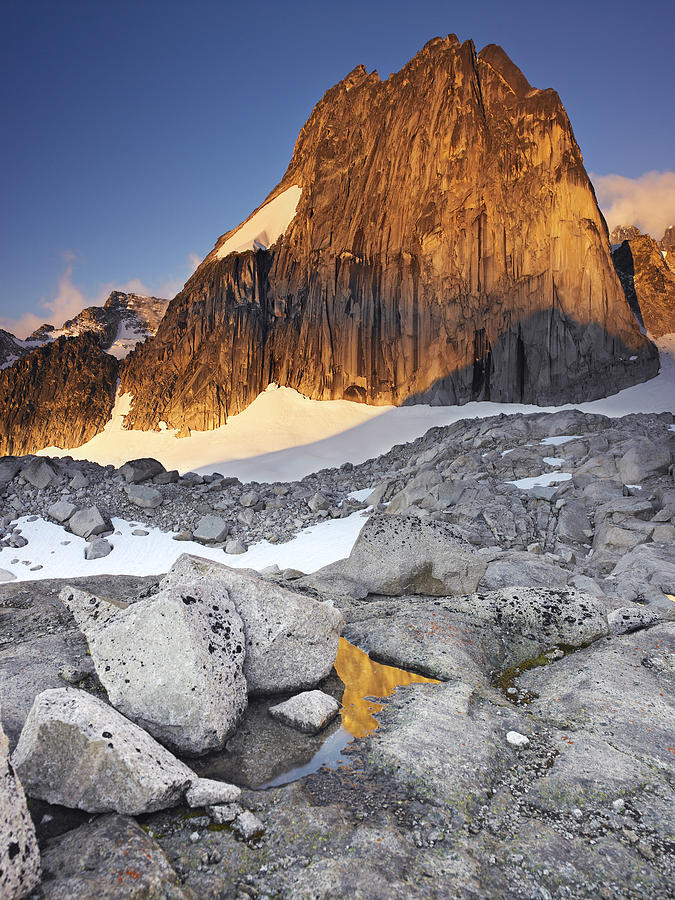 Beauty Photograph - Snowpatch Spire At Sunrise by Richard Berry