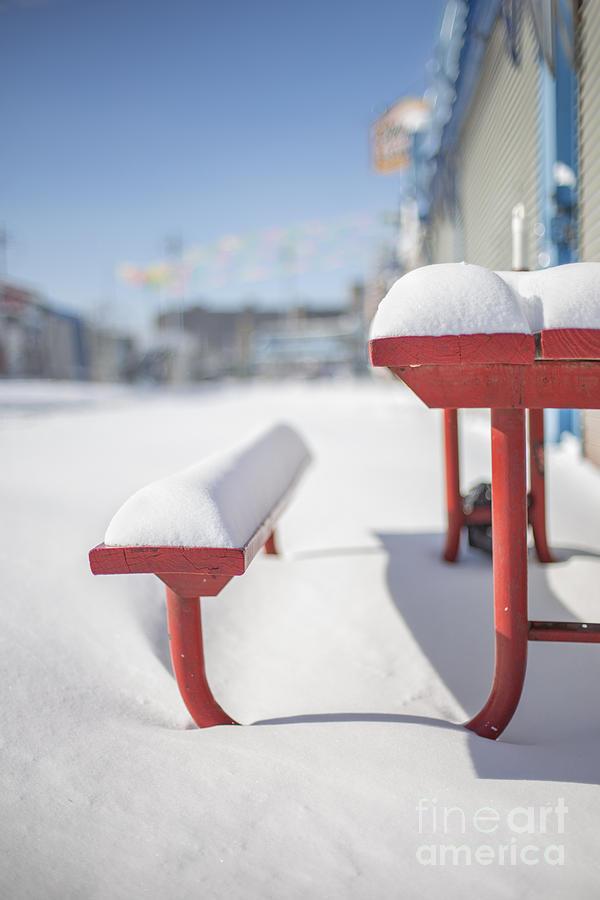 Coney Island Photograph - Snows Of New York by Evelina Kremsdorf