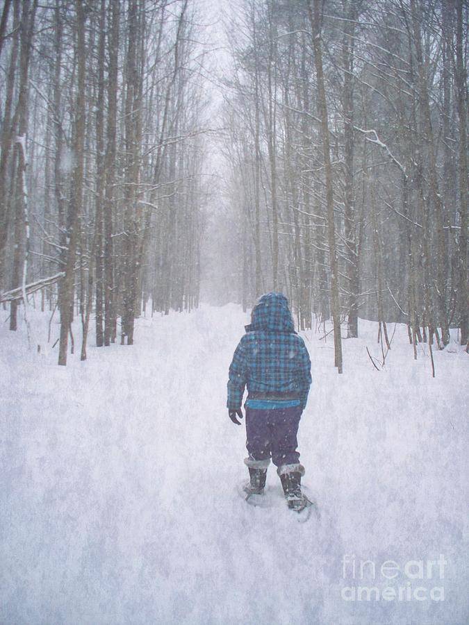 Snowshoeing Photograph - Snowshoeing by Joy Nichols