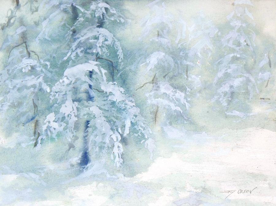Snow Painting - Snowstorm by Joy Nichols