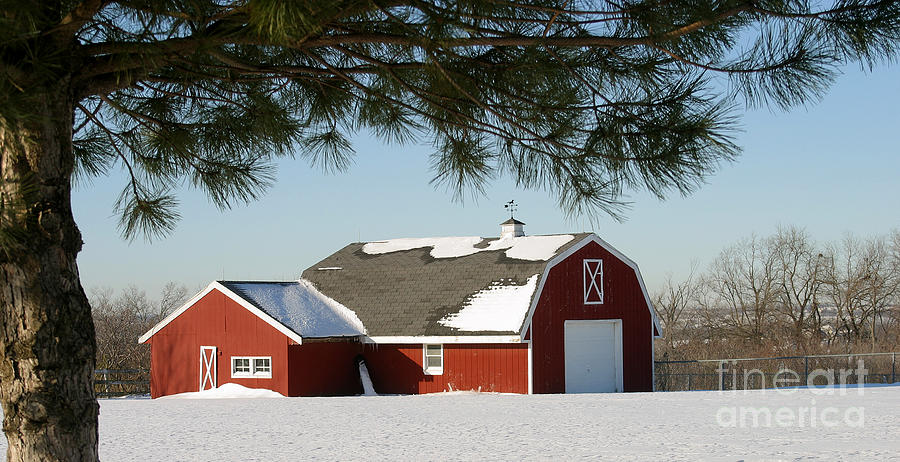 Barn Photograph - Snowy Barn-0087 by Gary Gingrich Galleries
