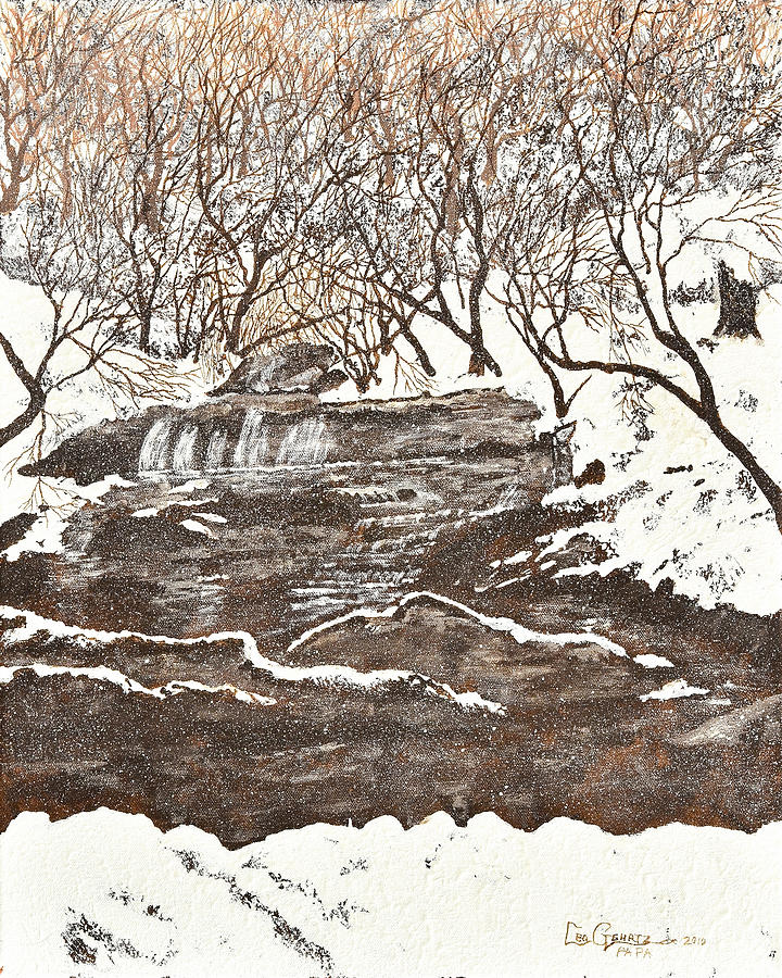 Snow Painting - Snowy Creek by Leo Gehrtz