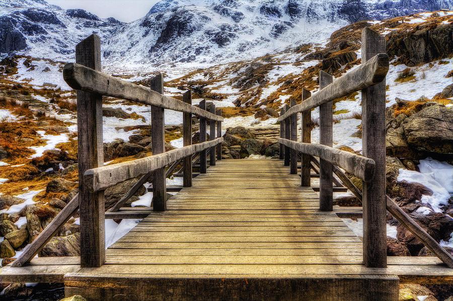 Snowy Mountains Photograph - Snowy Footbridge by Ian Mitchell