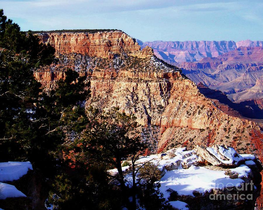 Photograph Photograph - Snowy Grand Canyon Vista by Janice Sakry