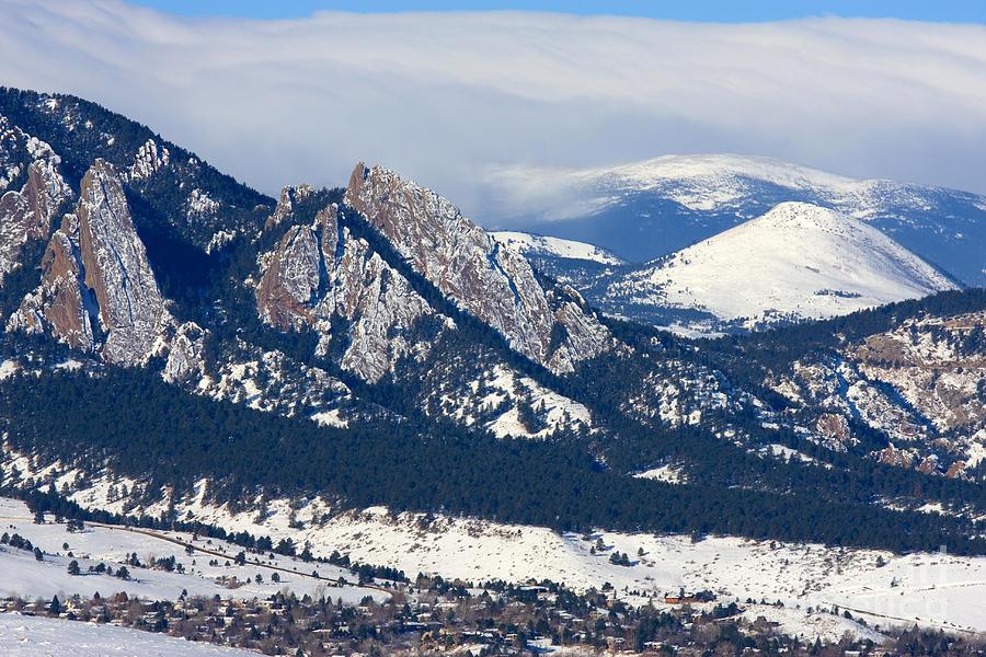 Snowy Hills Of Boulder Photograph