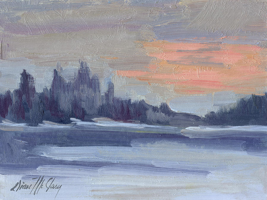 Snow Painting - Snowy Morning At Martha Lake by Diane McClary