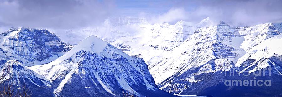 Mountain Photograph - Snowy Mountains by Elena Elisseeva