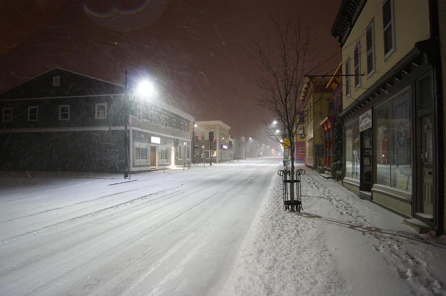 SNOWY NIGHT by Alan Chandler