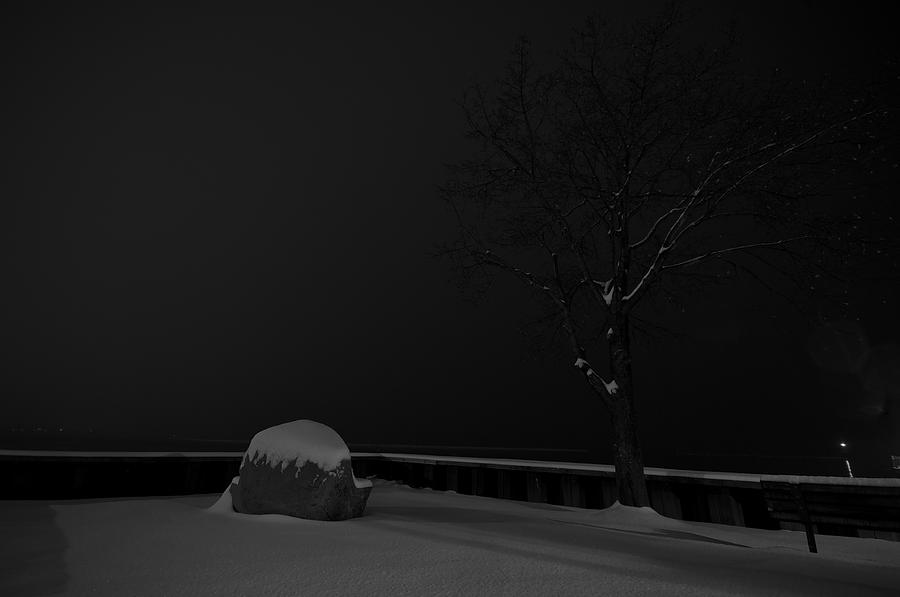 Burlington Photograph - Snowy Night by Mike Horvath