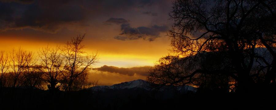 Pikes Peak Photograph - Snowy Pikes Peak by Alexandra  Rampolla