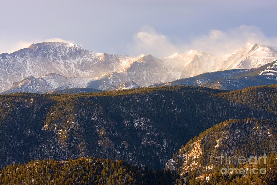 Snowy Pikes Peak Photograph