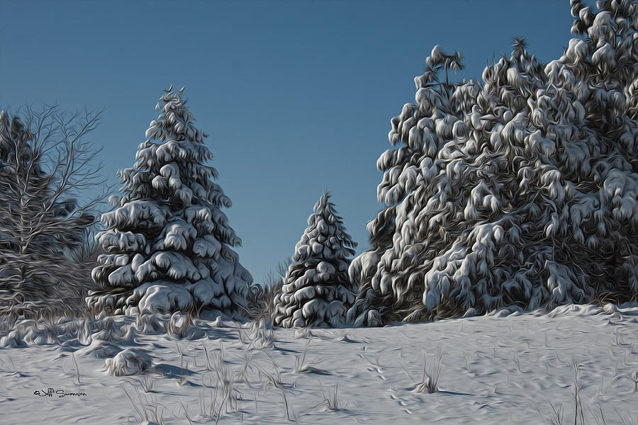 Snow Photograph - Snowy Pines by Jeff Swanson