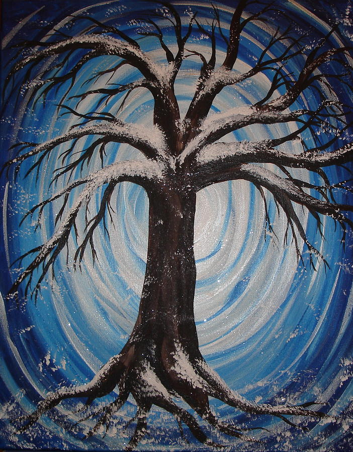 Snowy Tree of Life 020215 by Angie Butler