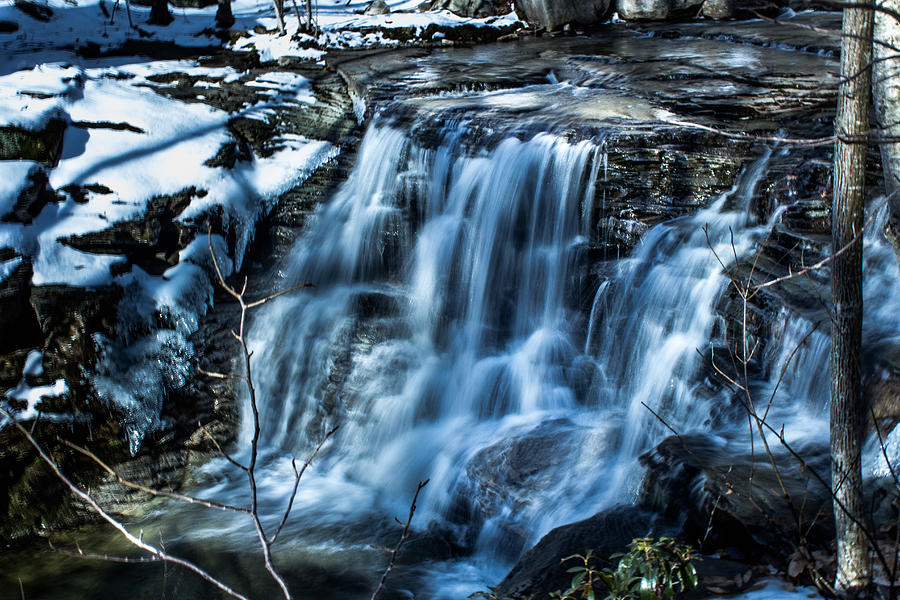 Waterfall Photograph - Snowy Waterfall by Jahred Allen