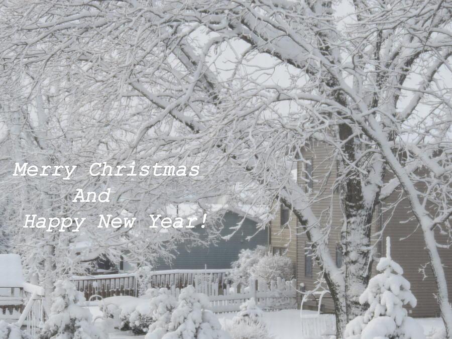 Snowy White Christmas Card Photograph by Kay Novy