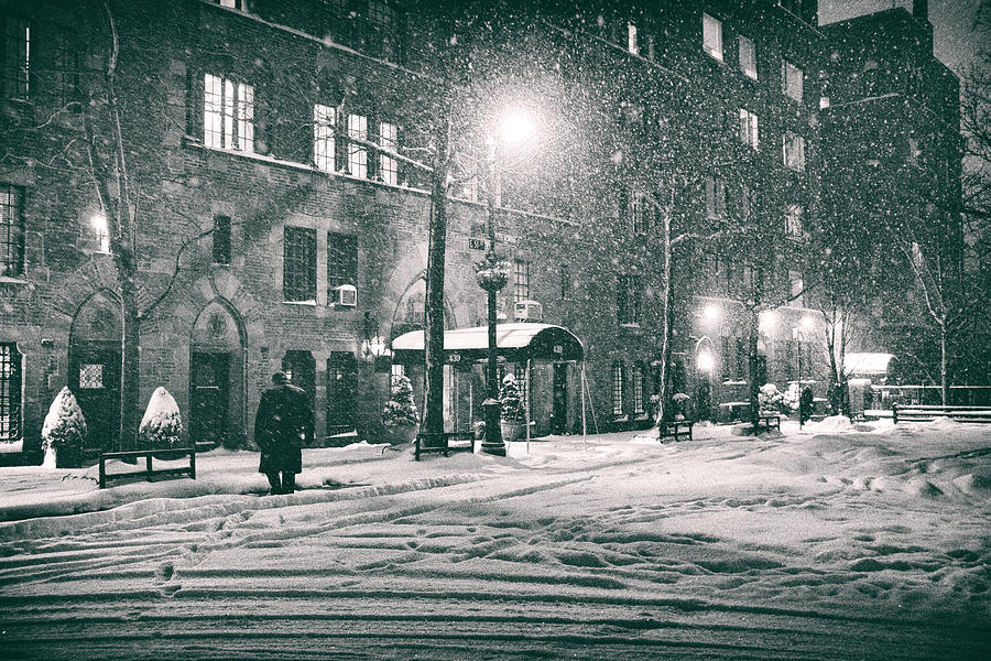 New York Photograph - Snowy Winter Night - Sutton Place - New York City by Vivienne Gucwa