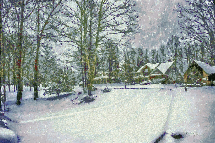 Snowy Landscape Painting - Snowy Winters Day by Barry Jones