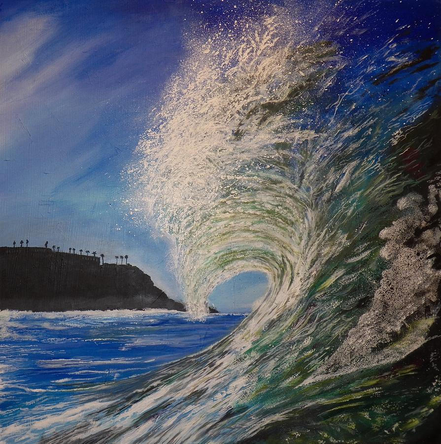 Waves Painting - So Cal Wave by Jim  Reale