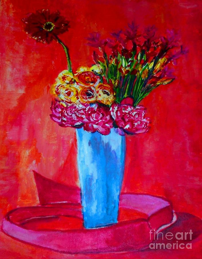 Vase Painting - So Close To You by Helena Bebirian