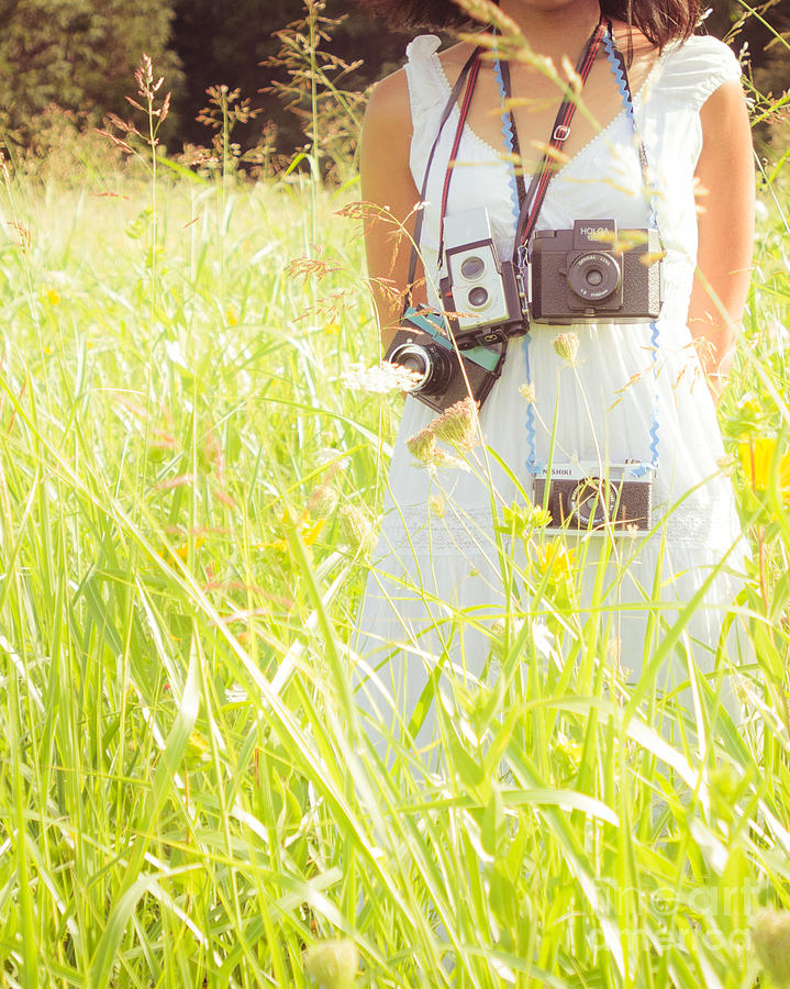Portrait Photograph - So Many Cameras So Little Time by Sonja Quintero