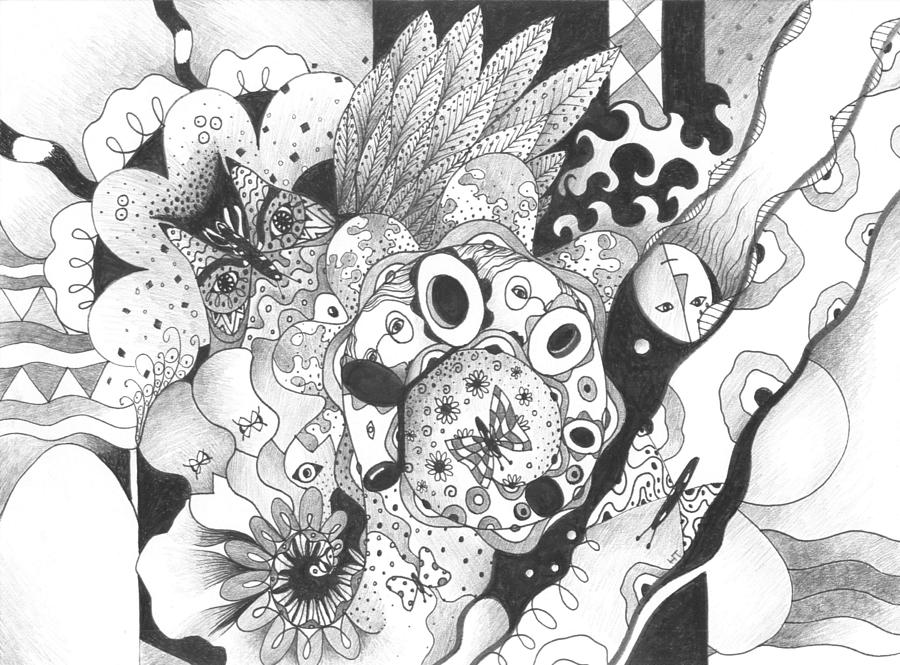 Abstract Drawing - So Much Make Believe by Helena Tiainen