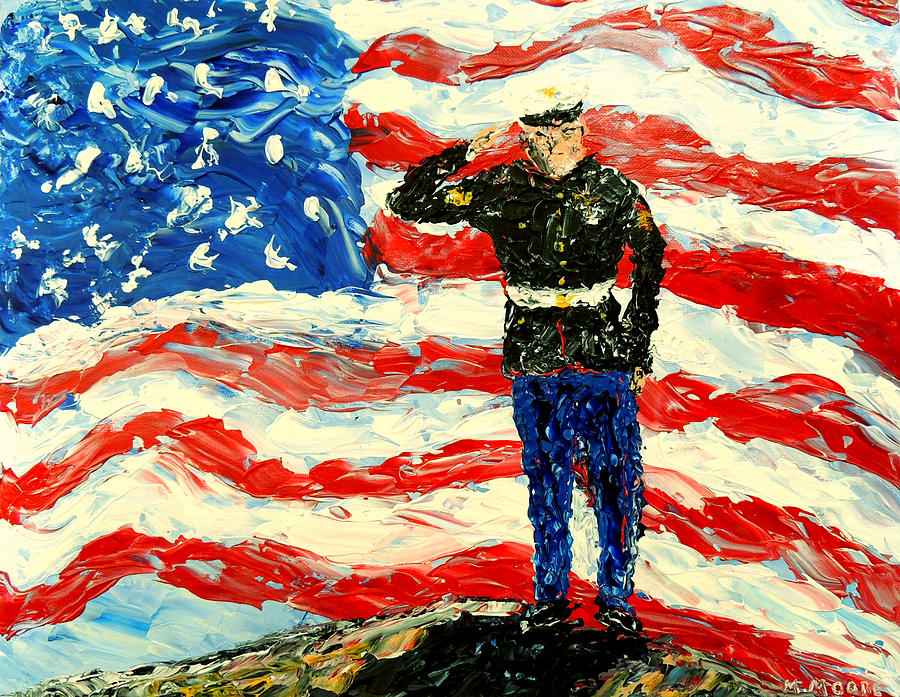 Military Painting - So Proudly They Hailed  by Mark Moore
