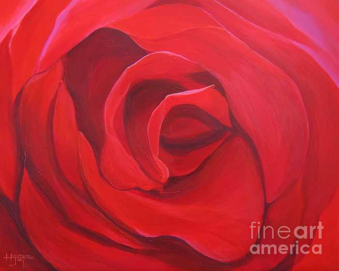So Red The Rose Painting by Hunter Jay