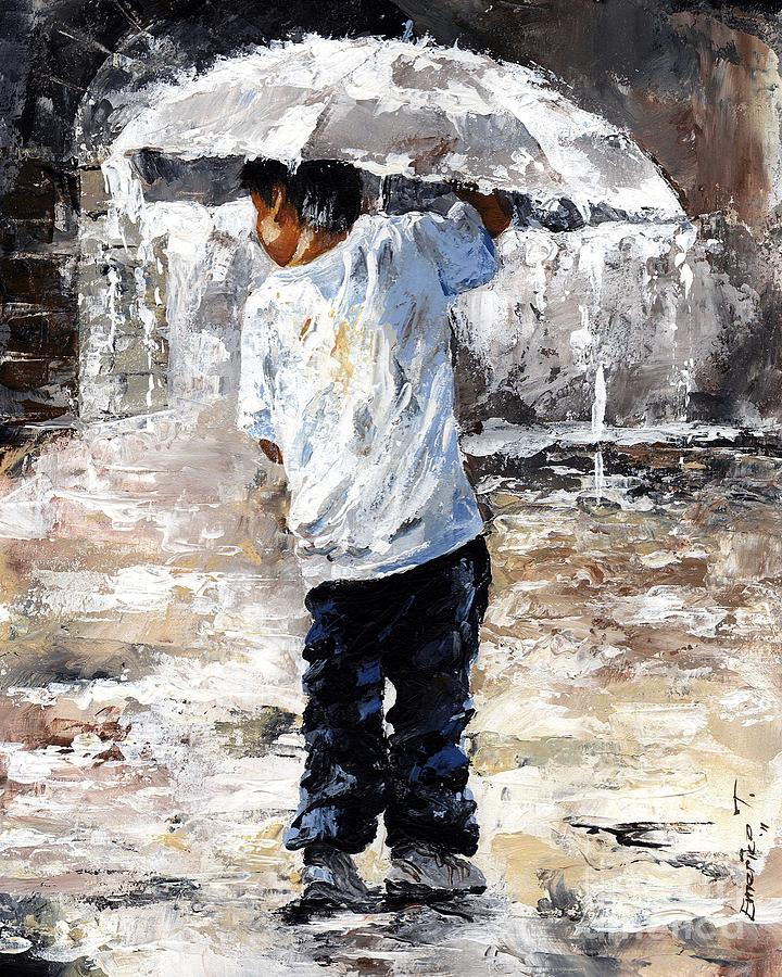 Boy Painting - Soaked by Emerico Imre Toth