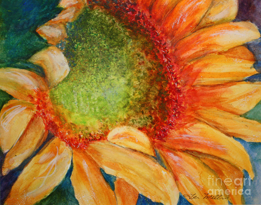Yellow Painting - Soaking Up The Sun by Terri Maddin-Miller