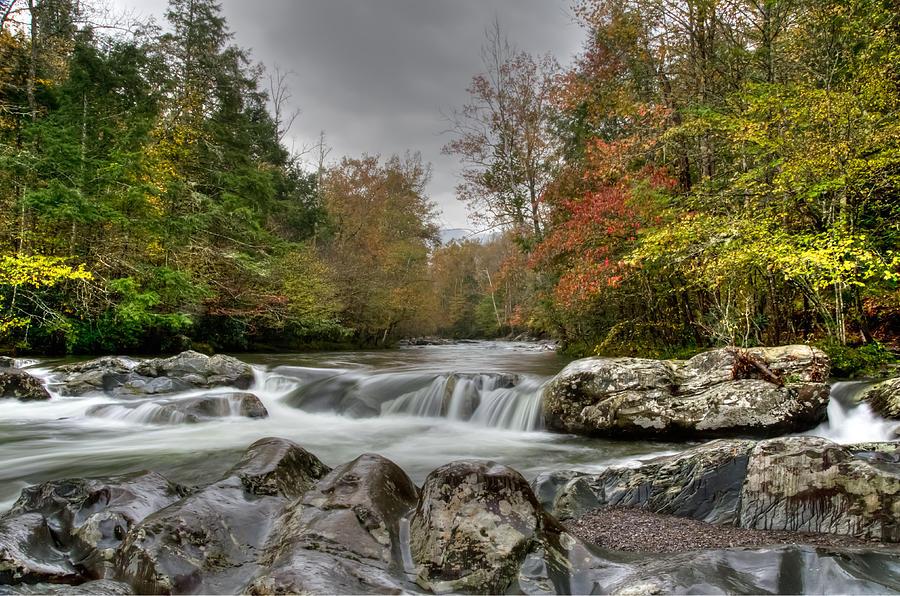 Autumn Photograph - Soaking Wet Shoals by Kristina Plaas