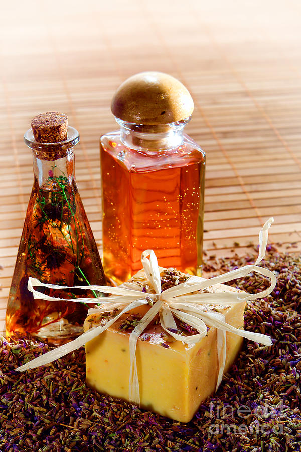 Aromatherapy Photograph - Soap And Fragrance Oils by Olivier Le Queinec