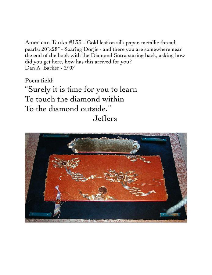 Transcendental Tapestry - Textile - Soaring Dorjis by Dan A  Barker