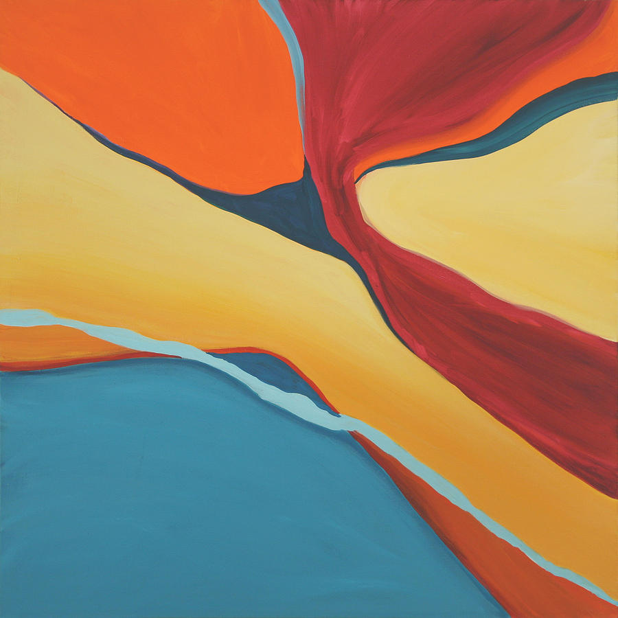 Abstract Painting - Soaring by Marilyn Fenn