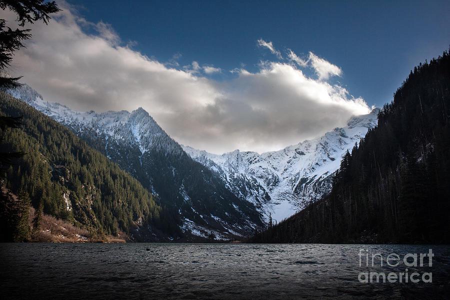 Fall Photograph - Soaring Mountain Lake by Mike Reid