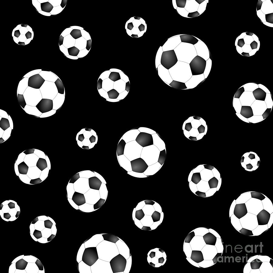 soccer ball pattern digital art by li or
