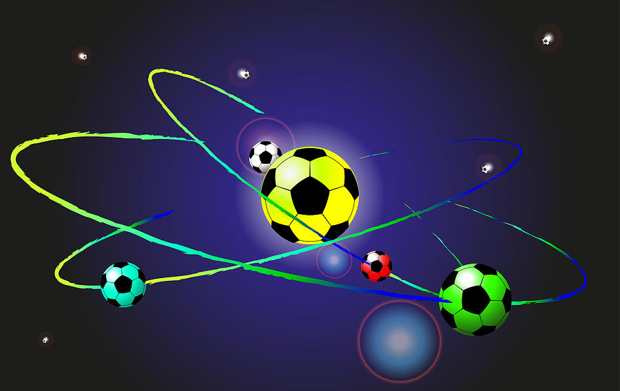 Abstract Digital Art - Soccer Ball by Volodymyr Horbovyy