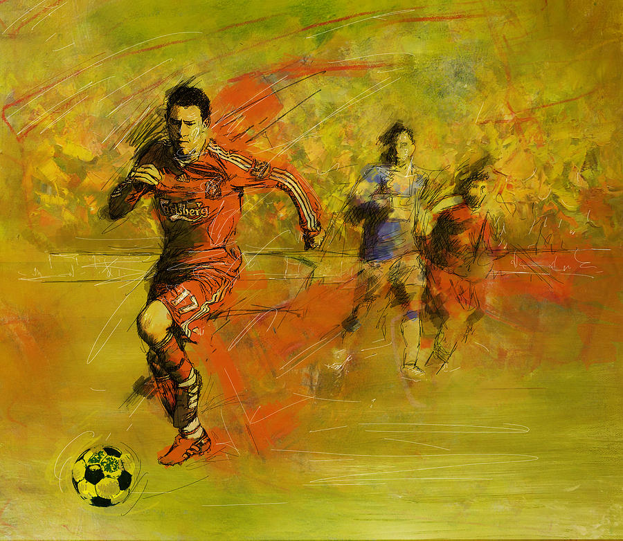 Sports Painting - Soccer  by Corporate Art Task Force