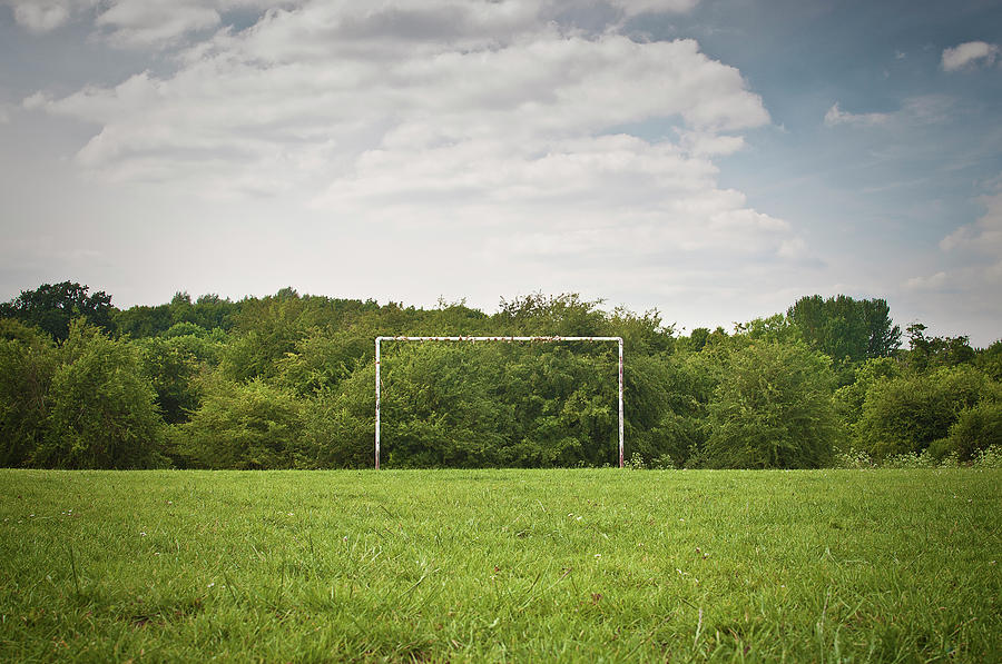 Soccer Goal On Grassy Pitch Photograph by Matt Walford