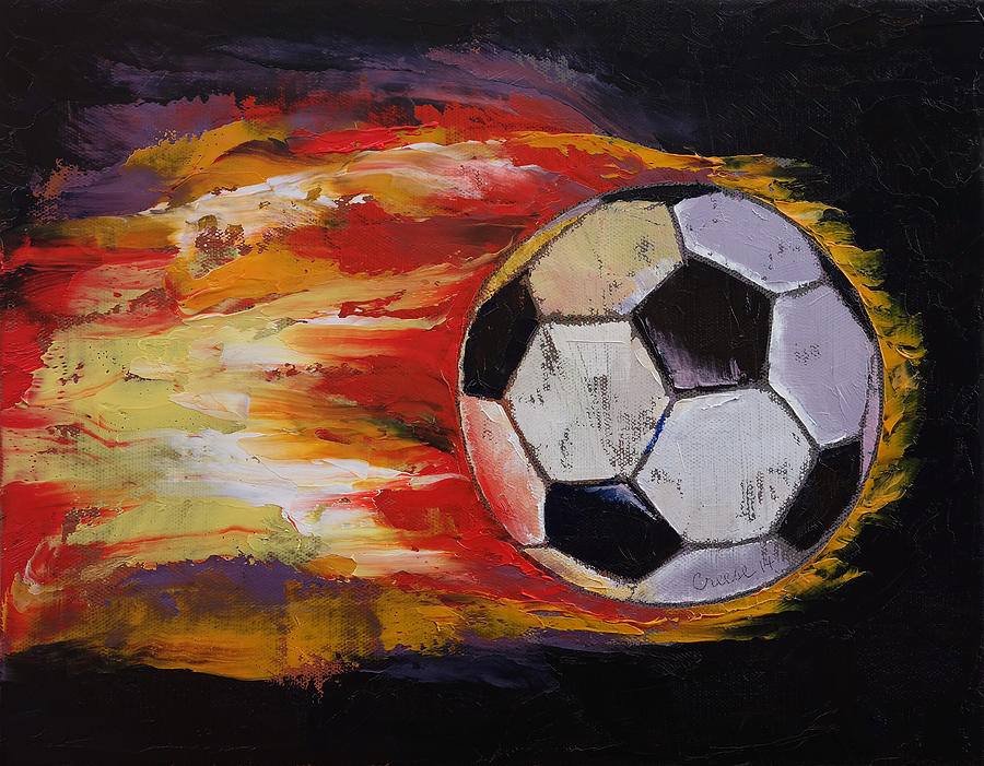 Soccer Painting by Michael Creese