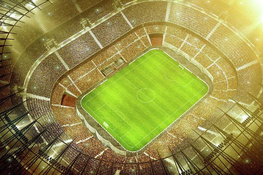 Soccer Stadium Bird Eye View Photograph by Dmytro Aksonov