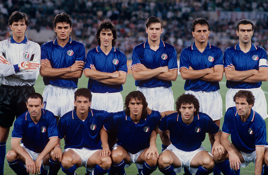 Soccer - World Cup Italia 1990 - Group A - Italy v Czechoslovakia - Olympic Stadium Photograph by Peter Robinson - EMPICS