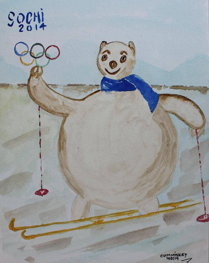Olympic Games Painting - Sochi by Roger Cummiskey