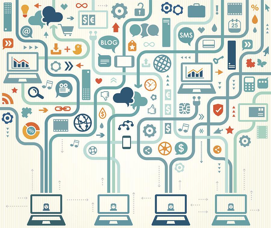 Social Media Gathering Digital Art by Drafter123
