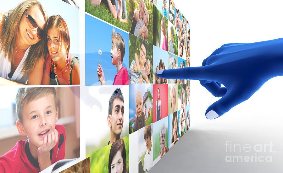 Social Digital Art - Social Media Network by Michal Bednarek
