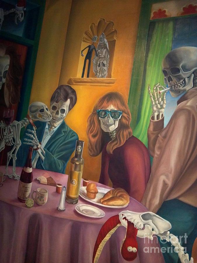 Halloween Photograph - Social Xrays  by Maureen J Haldeman