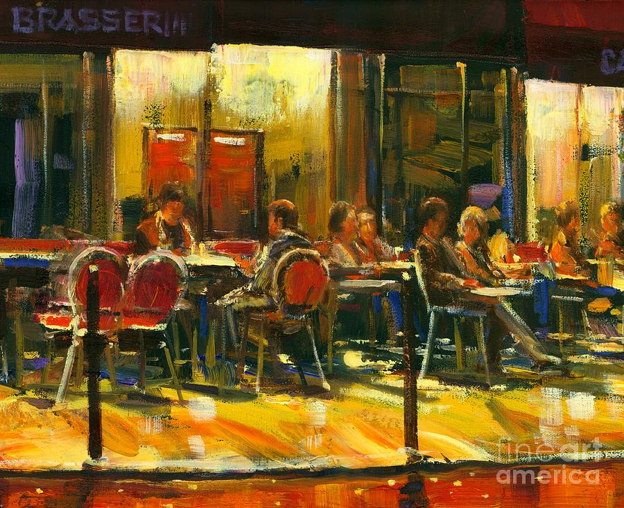 Cafe Painting - Socializing by Michael Swanson