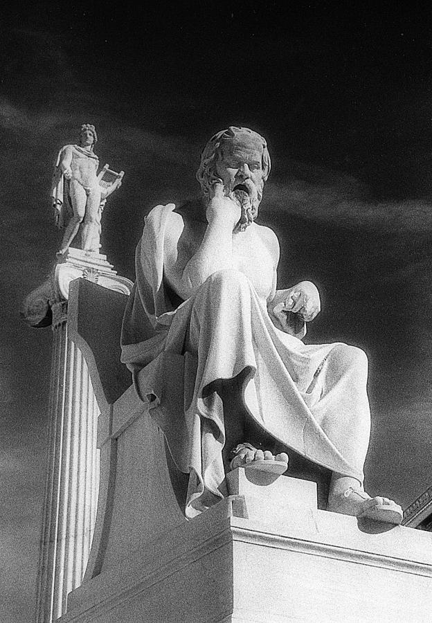 Socrates Photograph - Socrates And Apollon by Andonis Katanos
