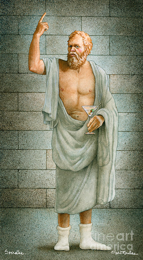 Socrates Painting - Socrates... by Will Bullas